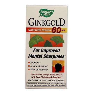 Nature's way ginkgold – viên uống bổ não giúp tăng cường trí nhớ, cải thiện trí lực, 100 viên
