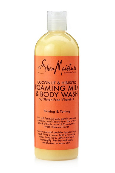 Shea Moisture Foaming Milk Body Wash Coconut and Hibiscus