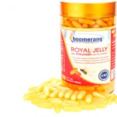 Sữa Ong Chúa Boomerang Royal Jelly and Collagen, 120 Viên