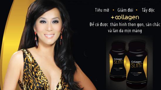 Collagen mỹ giúp giảm cân, đẹp da, cung cấp năng lượng collagen slim 30 viên