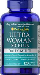 Viên uống bổ sung vitamin cho phụ nữ puritan's pride ultra woman 50 plus, 120 viên
