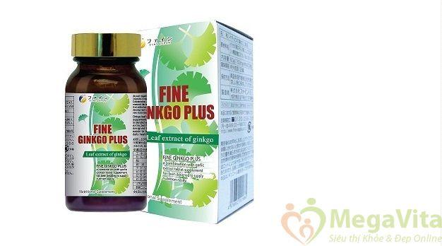 Fine ginkgo biloba plus: tpcn giảm stress, tăng trí nhớ, cải thiện chứng đau đầu, mất ngủ