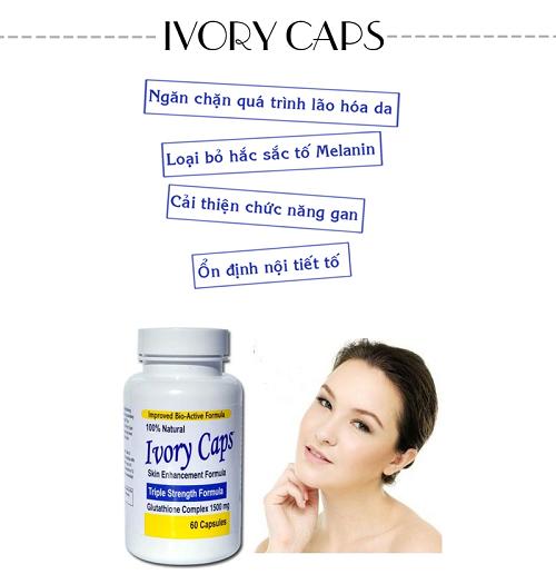Những ai đã sử dụng thuốc uống làm trắng da Ivory Caps?