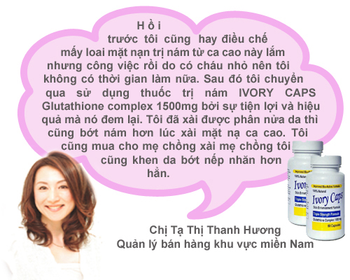 Ivory caps pills: viên uống làm trắng da tự nhiên với glutathione 1500mg, 60 viên