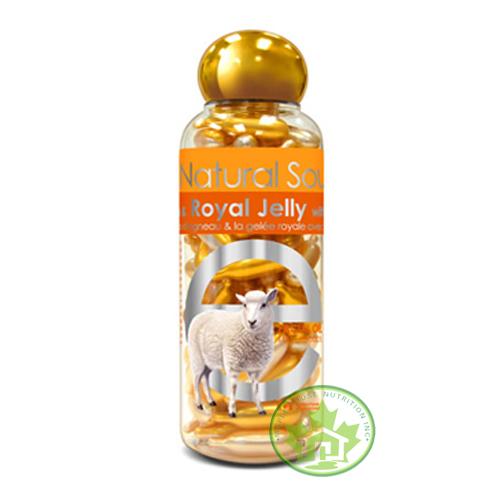 Tinh chất dưỡng trắng da, chống lão hóa dạng viên thoa sữa lamb placenta with royal jelly & vitamin e 100 viên