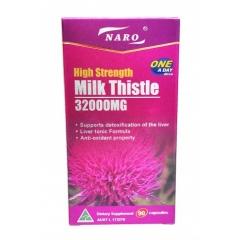 Viên uống mát gan, giải độc gan tốt nhất của Mỹ Naro High Strength Milk Thistle 32000mg 90 viên