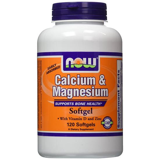 Viên uống dành cho xương khớp now foods calcium & magnesium plus vitamin d and zinc 120 viên