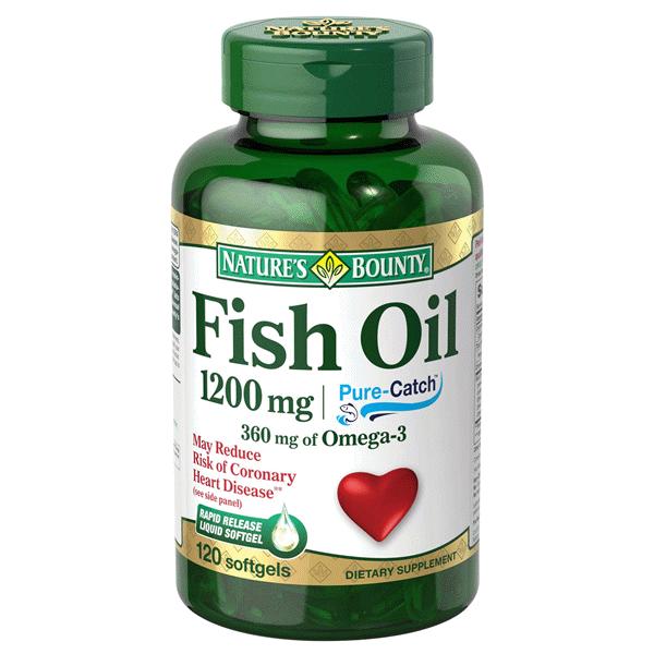 Viên uống tăng cường sức khỏe tim mạch nature's bounty fish oil 1200mg của mỹ 120 viên