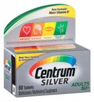Centrum Silver 50+: Viên bổ sung vitamin và khoáng chất cho người lớn tuổi 50+, 80 viên