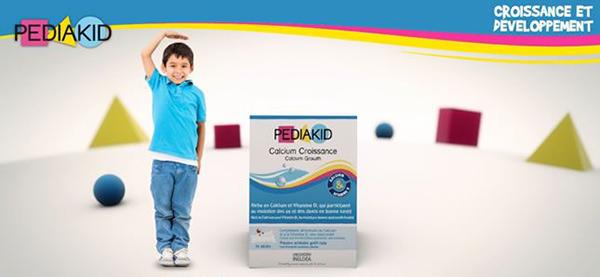 Bột uống tăng chiều cao cho trẻ từ 3 tuổi trở lên pediakid calcium croissance của pháp 14 gói x 2,6g
