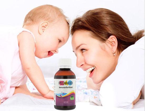 Siro tăng cường hệ miễn dịch cho bé pediakid immuno fortifiant 125ml