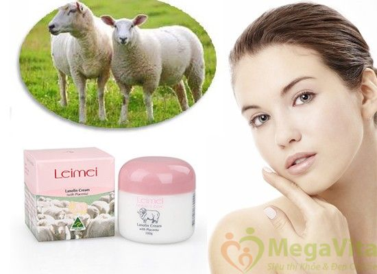 Kem trị nám và tàn nhang nhau thai cừu nature care lanolin cream with placentra 100g