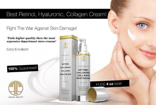 Kem dưỡng ẩm da mặt, chống lão hóa cao cấp từ mỹ retinol hyaluronic collagen moisturizer 120ml