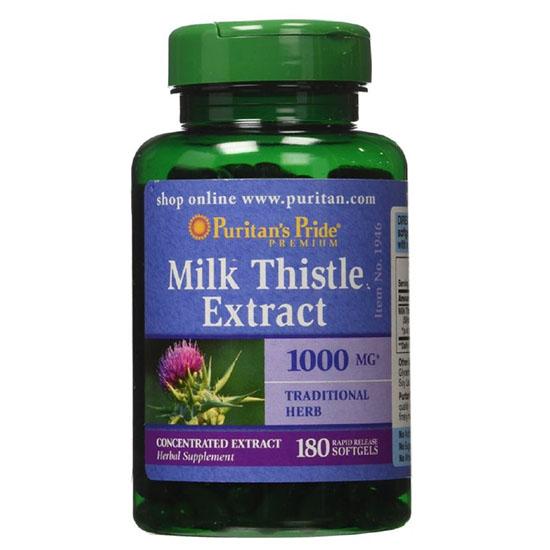 Puritan's pride milk thistle extract 1000mg - viên uống hỗ trợ chức năng gan của mỹ 180 viên