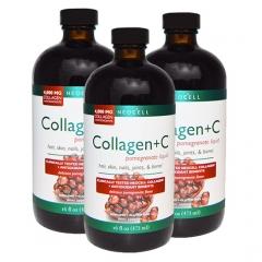 Bộ 3 sản phẩm Neocell Collagen +C Pomegranate Liquid - Thức uống làm trắng da tự nhiên của Mỹ