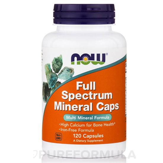 Viên uống bổ sung khoáng chất, cung cấp canxi, cải thiện xương khớp now food full spectrum mineral caps 120 viên của mỹ