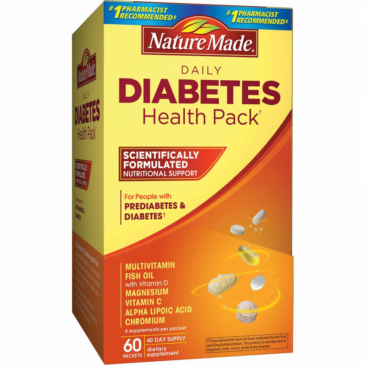 Kết quả hình ảnh cho Thuốc trị tiểu đường Nature Made Diabetes Health Pack Hoa Kỳ