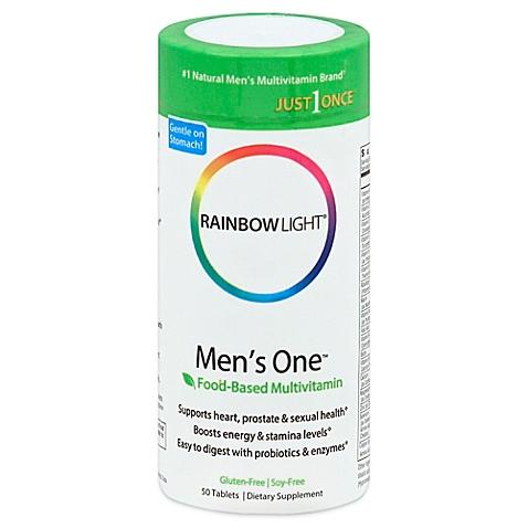 Viên uống bổ sung vitamin và khoáng chất, tăng cường sinh lực cho nam giới rainbow light mens one multivitamin của mỹ hộp 50 viên