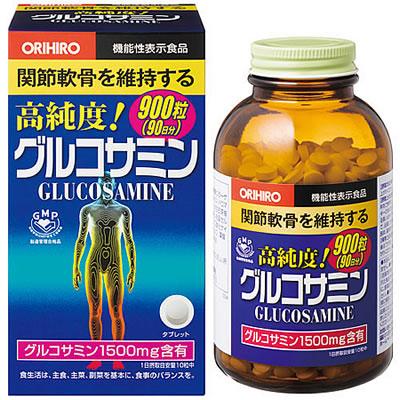 Glucosamine orihiro 1500mg 900 viên: viên uống tái tạo sụn, tăng cường sự dẻo dai cho xương khớp