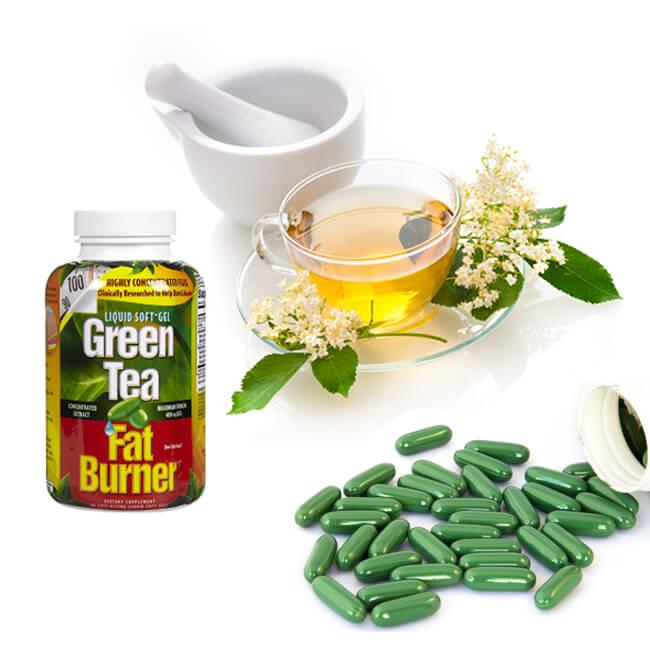 Green tea fat burner 400mg 200 viên viên uống giảm cân từ trà xanh