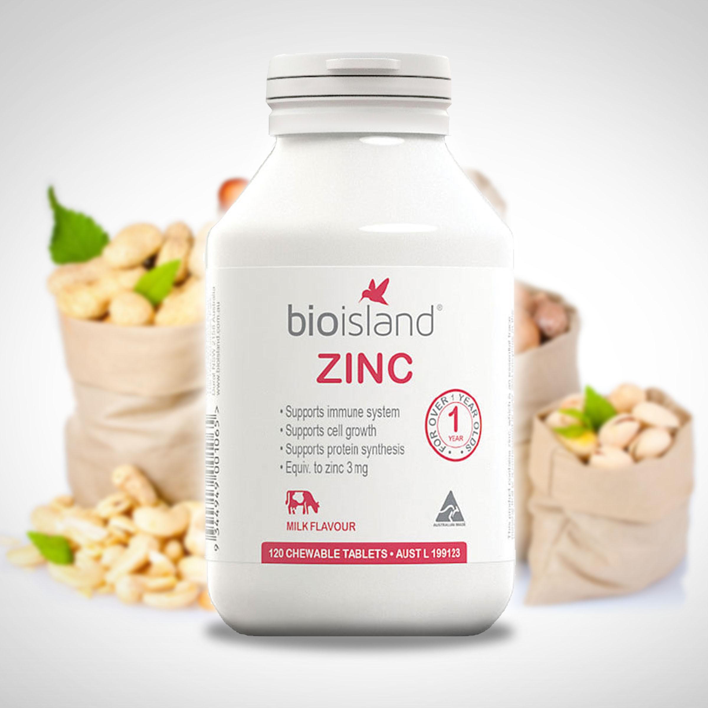 Viên uống bổ sung kẽm cho trẻ bio island zinc