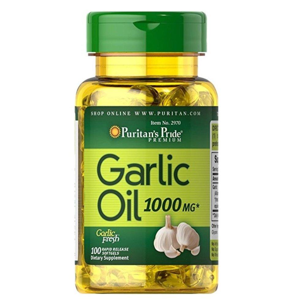 Tác dụng của tpcn tinh chất tỏi puritan's pride galic oil 1000mg