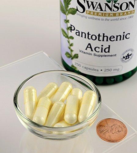 Viên uống bổ sung vitamin b5 swanson pantothenic acid 250mg, 250 viên - mỹ