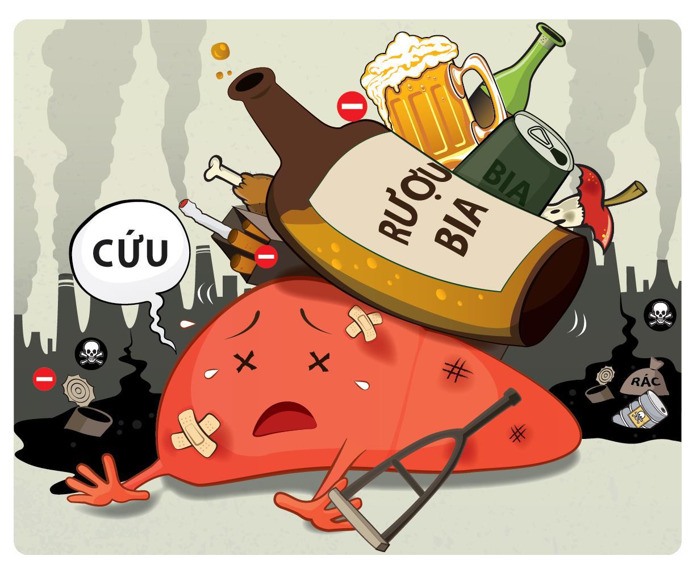 Viên uống hỗ trợ chức năng gan và giải độc gan do rượu bia