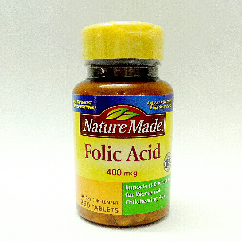 Nature made folic acid 400mcg