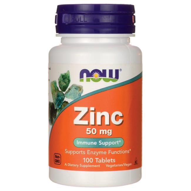 Now zinc, 50mg – thuốc bổ sung vitamin kẽm, giúp tăng cường hệ miễn dịch cho cơ thể, 100 viên