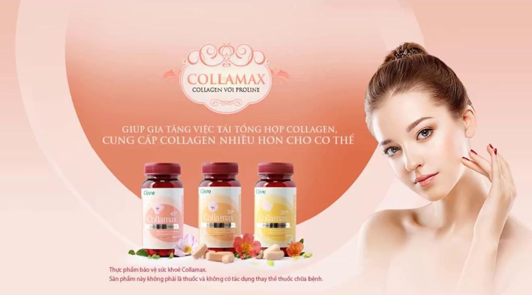 Viên uống collamax 45+ hộp 60 viên - pháp bổ sung collagen và proline tối ưu cho phụ nữ sau tuổi từ 45