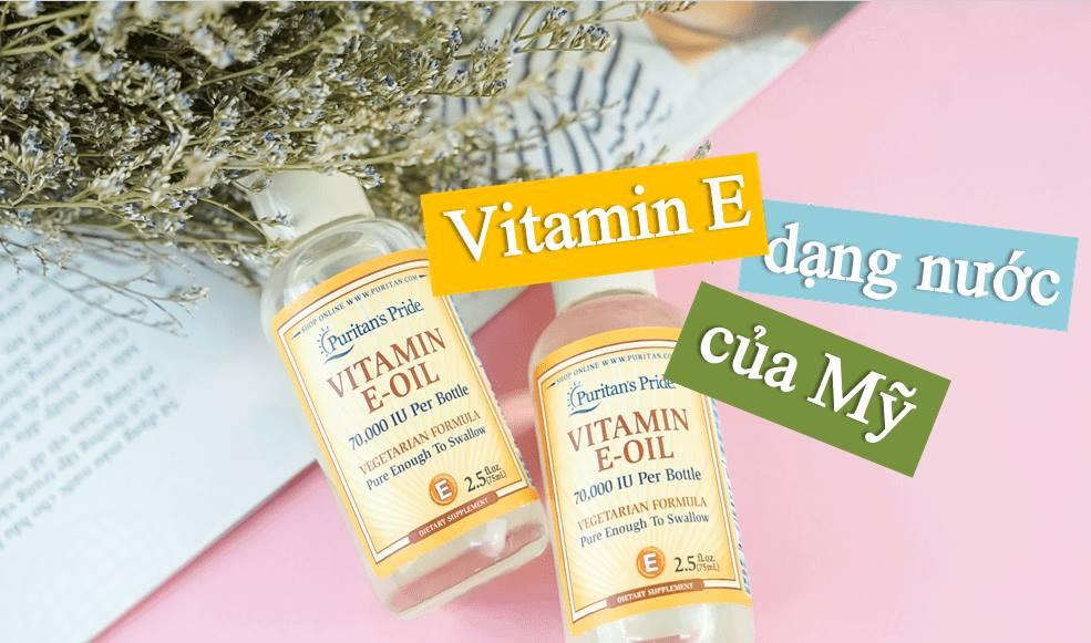 Vitamin e dạng nước tinh khiết 30.000iu