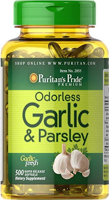 Tinh chất tỏi ngò tây odorless garlic parsley 500 mg 100 mg 100 viên