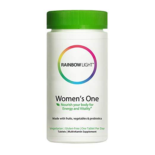 Rainbow light women's one là viên uống tổng hợp đa vitamin dành cho phụ nữ. rainbow light women's one là sản phẩm cần thiết để hỗ trợ sự phát triển và duy trì khuôn ngực căng tròn đầy đặn hệ xương chắc khỏe da dẻ hồng hào điện nước đầy đủ