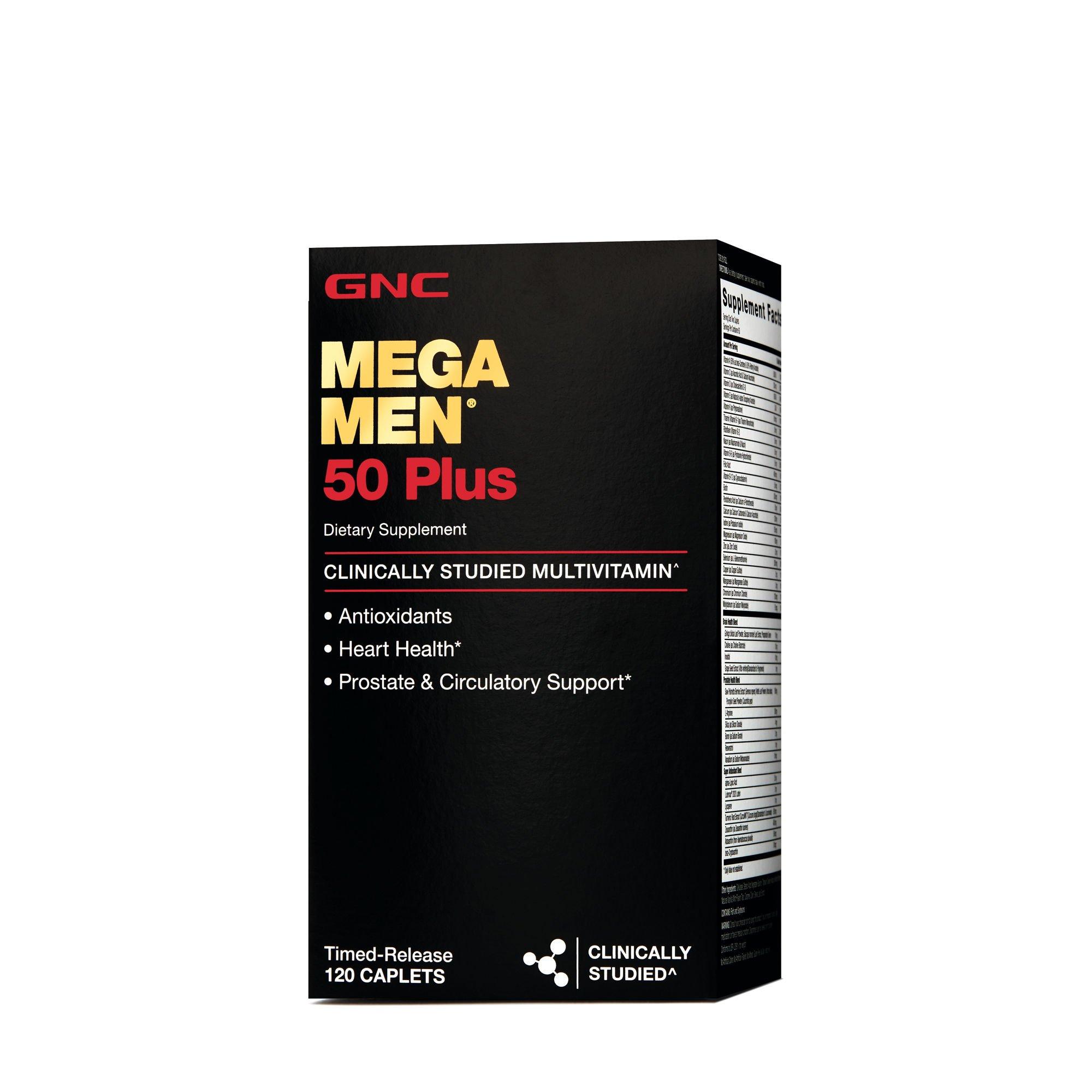"""Khi có tuổi nhu cầu dinh dưỡng của bạn thay đổi. tôi khuyên bạn nên dùng mega men 50 plus vì nó cung cấp sự cân bằng thích hợp của vitamin và khoáng chất cộng với các chất dinh dưỡng để hỗ trợ tuyến tiền liệt và sức khỏe của mắt và bộ nhớ"""""""
