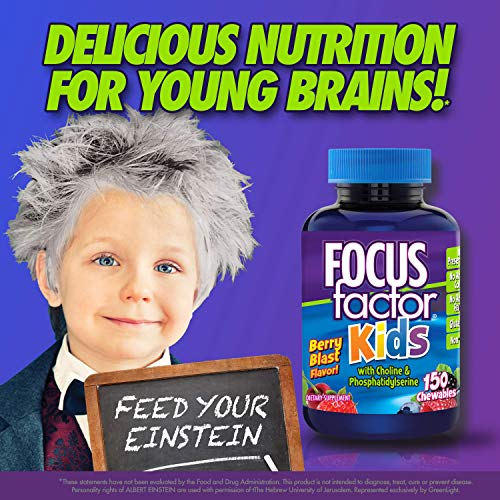 Focus factor kids - viên bổ sung vitamin giúp trẻ phát triển trí não thông minh hơn 150 viên