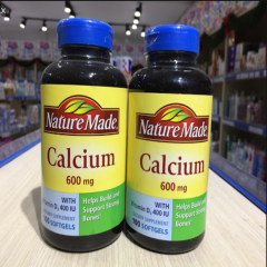 Nature Made Calcium 600mg Vitamin D Liquid Softgel 100 viên