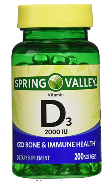 Spring Valley vitamin d3 2000I.U. Immune Health/Bone Health, 200 viên