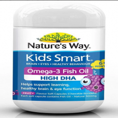 Kẹo dẻo Nature's Way Kids Smart Omega-3 Fish oil 50 viên