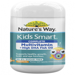 Vitamin tổng hợp dầu cá Nature's Way Kids Smart Complete Multivitamin+Fist Oil 50 viên