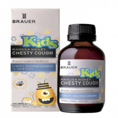 Siro đặc trị ho có đờm Brauer Kids Manuka Honey Chesty Cough 100 ml