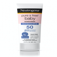 Kem chống nắng cho trẻ em - Neutrogena Pure & Free® Baby Sunscreen Lotion Broad Spectrum SPF 50, 88ml