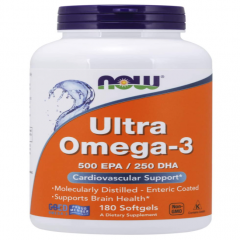 NOW ULTRA OMEGA-3 500 EPA/250 DHA, 180 Viên