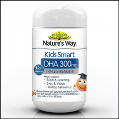 Natures Way Kids Smart Viên Nhai Bổ Sung DHA 300mg Triple Strength 50 Viên
