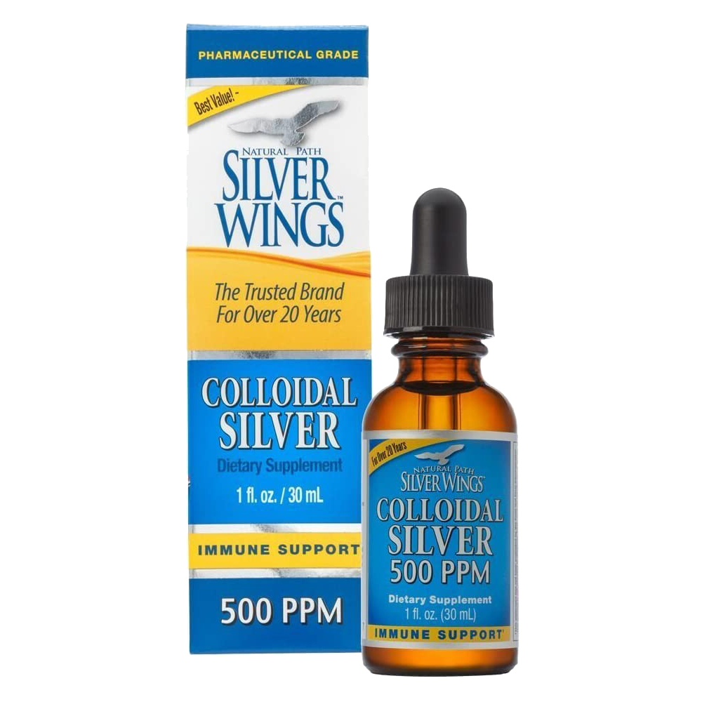 Keo bạc Colloidal Silver Natural Path Silver Wings 500ppm 30ml.